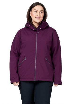 Raiski Ascalon R+ Womens Plus Size Snow Jacket Potent Purple Front