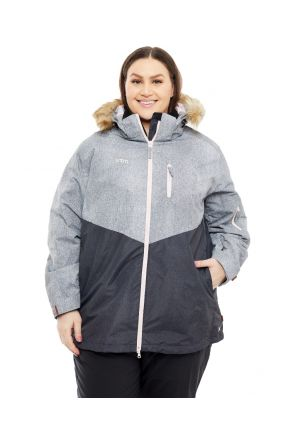 XTM JINDY 3 IN 1 WOMENS PLUS SIZE SKI JACKET BLACK GREY SIZES 18-26